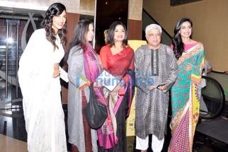 Anushka Manchanda, Shabana Azmi, Sandhya Mridul, Javed Akhtar, Sarah Jane Dias