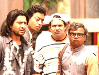 Movie Still From The Film Krazzy 4,Arshad Warsi,Irrfan Khan,Suresh Menon,Rajpal Yadav