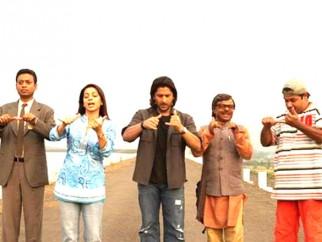 Movie Still From The Film Krazzy 4,Irrfan Khan,Juhi Chawla,Arshad Warsi,Rajpal Yadav,Suresh Menon