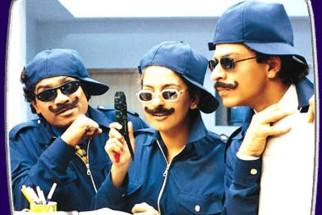 Movie Still From The Film Phir Bhi Dil Hai Hindustani Featuring Johny Lever,Juhi Chawla,Shahrukh Khan