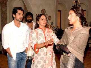 On The Sets Of The Film Tell Me O Kkhuda Featuring Arjan Bajwa,Hema Malini,Esha Deol