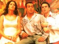 Movie Still From The Film Maine Pyaar Kyun Kiya Featuring Salman Khan,Sohail Khan,Katrina Kaif