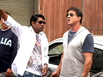On The Sets Of The Film Kambakkht Ishq Featuring Sylvester Stallone