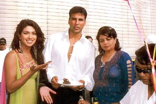 On The Sets Of The Film Aitraaz Featuring Akshay Kapoor,Priyanka Chopra