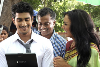 On The Sets Of The Film Ekk Deewana Tha Featuring Prateik Babbar,Amy Jackson,Manu Rishi,Sachin Khedekar,Ramesh Sippy,Samantha Ruth Prabhu,Ashwin Kakumanu,Babu Anthony,Vikas Menon