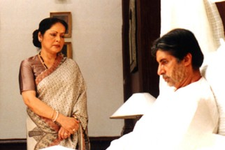 Movie Still From The Film Ek Rishtaa The Bond of Love Featuring Amitabh Bachchan,Raakhee