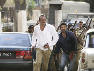 Movie Still From The Film Shoot Out At Lokhandwala Featuring Sanjay Dutt,Sunil Shetty