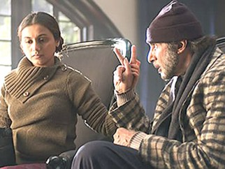 Movie Still From The Film Black Featuring Amitabh Bachchan,Rani Mukherjee
