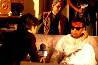 Movie Still From The Film Rann,Rajpal Yadav,Paresh Rawal