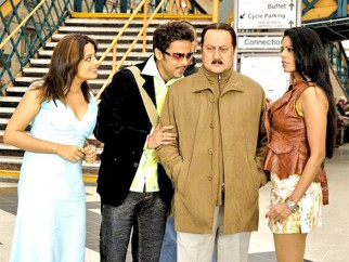 Movie Still From The Film Mr. Bhatti on Chutti,Anupam Kher
