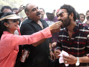 Photo Of  Ashwani Dhir,Ajay Devgn From Ajay Devgn celebrates his birthday on the sets of 'Son Of Sardar'