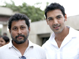 On The Sets Of The Film Vicky Donor,Shoojit Sircar,John Abraham