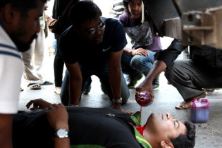 On The Sets Of The Film MLA - An Inside Intruder,Chaitanya Naidu