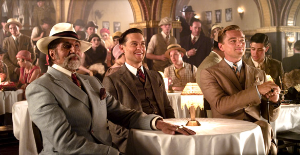 Movie Still From The Film The Great Gatsby,Amitabh Bachchan,Tobey Maguire,Leonardo DiCaprio