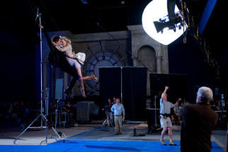 On The Sets Of The Film The Amazing Spider - Man,Andrew Garfield,Emma Stone