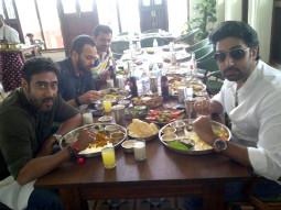 On The Sets Of The Film Bol Bachchan Featuring Ajay Devgn,Abhishek Bachchan,Asin,Prachi Desai,Asrani,Archana Puran Singh,Krishna Abhishek,Neeraj Vora,Jeetu Verma