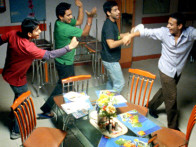Movie Still From The Film Shuttlecock Boys,Alok Kumar,Aakar Kaushik,Manish Nawani,Vijay Prateek
