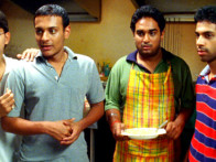 Movie Still From The Film Shuttlecock Boys,Alok Kumar,Vijay Prateek,Aakar Kaushik,Manish Nawani