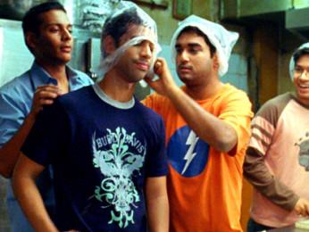 Movie Still From The Film Shuttlecock Boys,Vijay Prateek,Manish Nawani,Aakar Kaushik,Alok Kumar