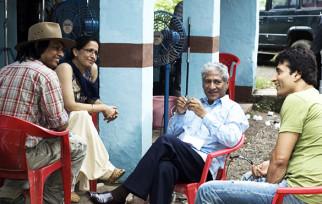On The Sets Of The Film Riwayat,Rajendra Gupta,Narendra Jha
