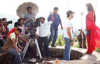 On The Sets Of The Film Riwayat,Khalid Siddiqui,Samapika Debnath