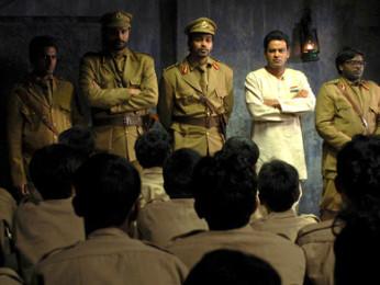 Movie Still From The Film Chittagong,Nawazuddin Siddiqui,Jaideep Ahlawat,Manoj Bajpayee,Raj Kumar Yadav