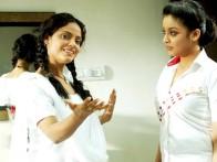 Movie Still From The Film Apartment,Neetu Chandra,Tanushree Datta
