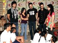 Photo Of Vaibhav Talwar,Ambika A Hinduja,Siddharth Kher,Dhruv Ganesh,Sharadha Kapoor From The Madhavan and Teen Patti cast visit NGO Kids