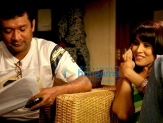 On The Sets Of The Fillim of Chance Pe Dance Featuring,Genelia Dsouza,Ken Ghosh