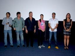 Photo Of Dhillin Mehta,Anthony D'Souza,Mr. James D Bomalick,Katrina Kaif,Akshay Kumar,Lara Dutta From Akshay,Lara and Katrina watch Blue with NGO Kids