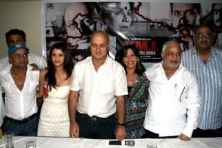 Photo Of Rajpal Yadav,Smily Suri,Anupam Kher,Perizaad Zorabian,N Chandra,Boney Kapoor From 'Yeh Mera India' media meet