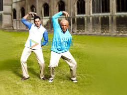 Movie Still From The Film Paa Featuring Amitabh Bachchan,Abhishek Bachchan