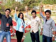 Movie Still From The Film Krantiveer - The Revolution,Sameer Aftab,Aditya Singh Rajput,Harsh Rajput,Jahan Bloch