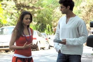 Movie Still From The Film Ek Tho Chance,Amrita Arora, Purab Kohli