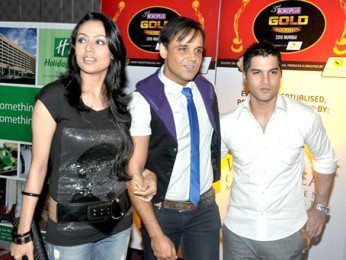 Photo Of Gauri Tonk,Yash Tonk,Vikas Sethi From The Top TV celebs rock 3rd Gold Awards 2010 announcement