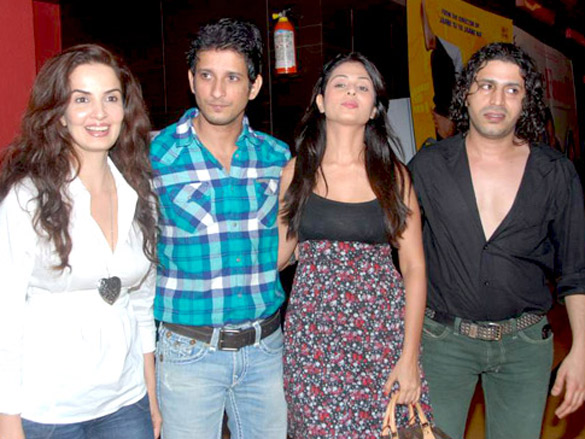Photo Of Rukhsar,Sharman Joshi,Anjana Sukhani,Faruque Kabir From The First look launch of 'Allah Ke Banday'