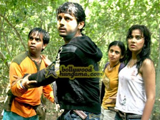 Movie Still From The Film Agyaat Featuring Nitin Reddy,Priyanka Kothair,Rasika Duggal