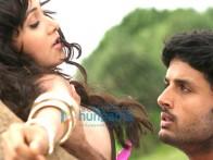 Movie Still From The Film Agyaat Featuring Nitin Reddy,Priyanka Kothari