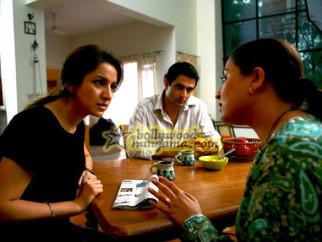 Movie Still From The Film Firaaq Featuring Tisca Chopra,Sanjay Suri