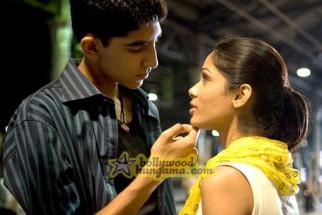 Movie Still From The Film Slumdog Millionaire Featuring Dev Patel,Freida Pinto