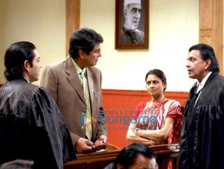Movie Still From The Film Chal Chalein Featuring Kanwaljeet Singh,Mithun Chakraborty