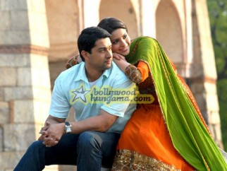 Movie Still From The Film Aloo Chaat Featuring Aftab Shivdasani,Aamna Shariff