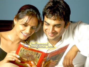 Movie Still From The Film 13B Featuring Neetu Chra,Madhavan