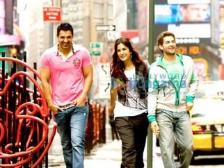 Movie Still From The Film New York Featuring,John Abraham,Katrina Kaif,Neil Nitin Mukesh
