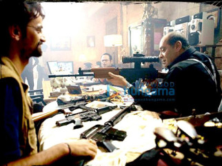 Movie Still From The Film Kaminey Featuring Deb Mukherjee