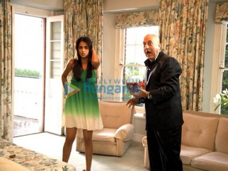 Movie Still From The Film Life Partner Featuring Genelia D'souza,Anupam Kher