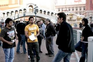 On The Sets Of The Film Anjaana Anjaani Featuring Ranbir Kapoor,Priyanka Chopra,Zayed Khan