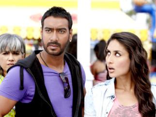 Movie Still From The Film Golmaal 3,Ratna Pathak,Ajay Devgn,Kareena Kapoor