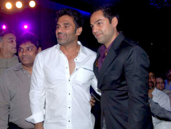Photo Of Gurbachan,Johny Lever,Suniel Shetty,Abhay Deol From The Audio release of 'Yamla Pagla Deewana'