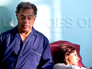 Movie Still From The Film Life Goes On,Girish Karnad,Soha Ali Khan